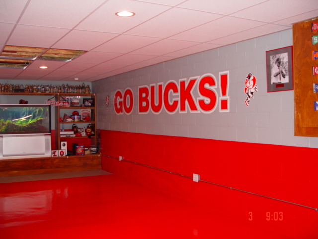 62 Best Images About Osu Basement On Pinterest Man Cave Ohio State Rooms And Ohio State University